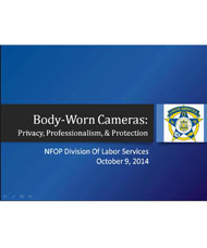 flyer for body-worn cameras: privacy, professionalism, and protection