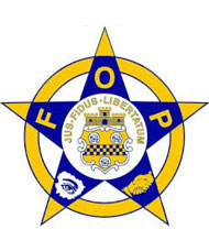 Blue and yellow FOP star logo
