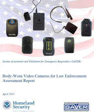 Flyer for body-worn video cameras for law enforcement assessment report