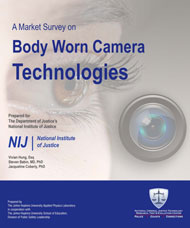 Poster for NIJ's Market Survey on Body-Worn Camera Technologies