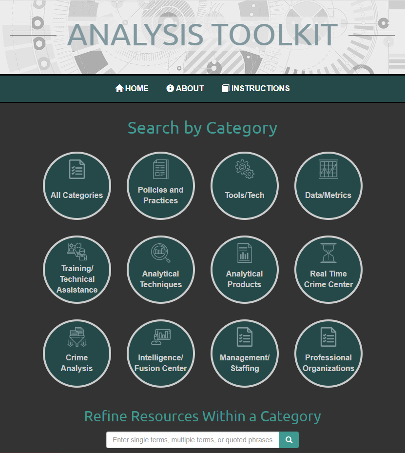 Analysis toolkit screenshot