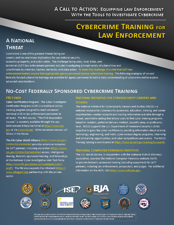 GIST - Document Detail - Cyber Training for Law Enforcement Call to ...