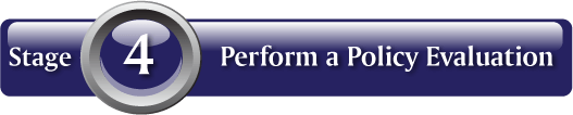 Stage 4: Perform a Policy Evaluation