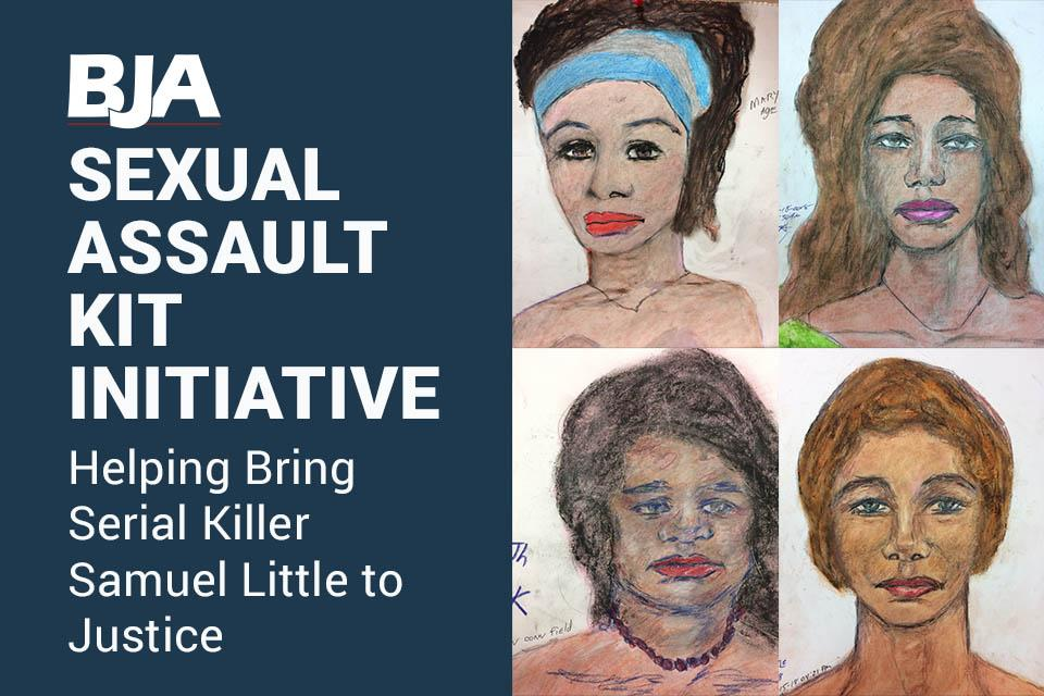 Sexual Assault Kit Initiative showing some of Samuel Little's sketches