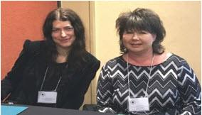 COPE Mentoring Specialist Candace Ryan-Schmid (left) and COPE Program Manager Kara McAllister at the 2017 Arizona Probation, Parole, and Corrections Association conference