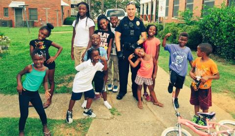 Image of Birmingham Police Officer with community