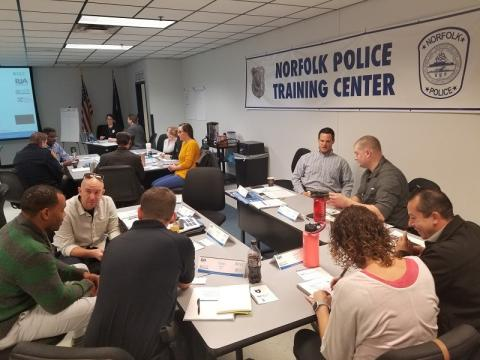 Norfolk (VA) police officers received VALOR Initiative resilience training in December 2018